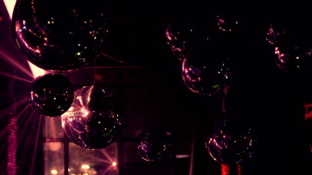 disco ball night entertainment - disco dancing stock videos & royalty-free footage