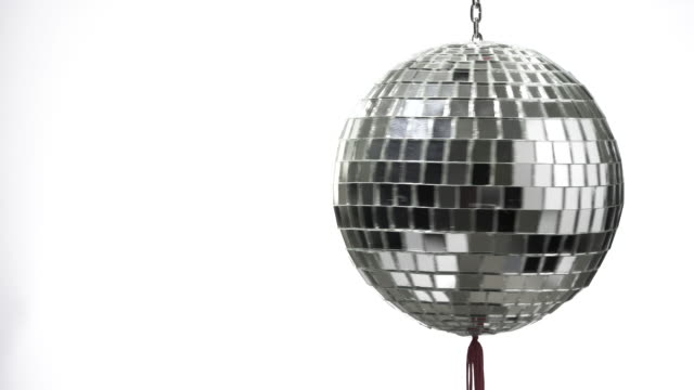 disco ball rotate with copy space - mirror ball stock videos & royalty-free footage