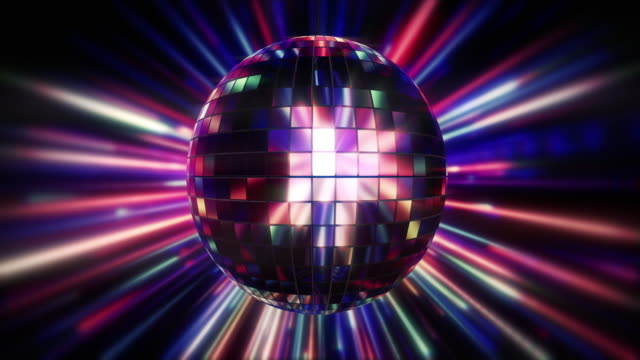 disco ball shiny lighting loop - mirror ball stock videos & royalty-free footage