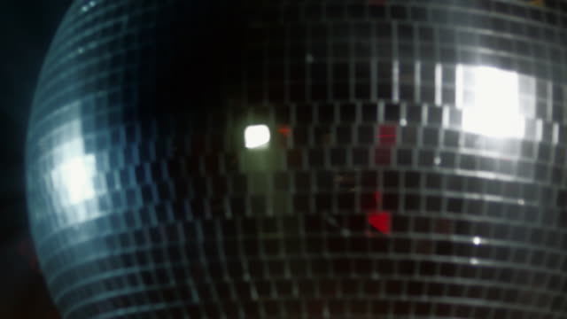 CU SLO MO Disco ball turning / New York City, New York, USA