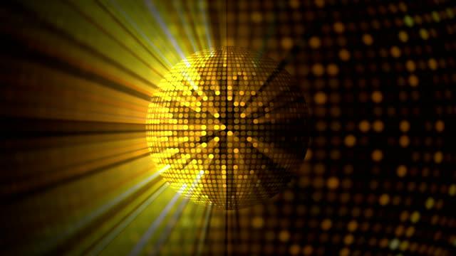 disco ball - goldfarbig stock-videos und b-roll-filmmaterial