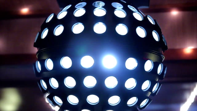 disco ball - music video stock videos and b-roll footage