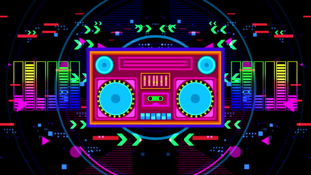 disco boombox-party - pop music stock-videos und b-roll-filmmaterial