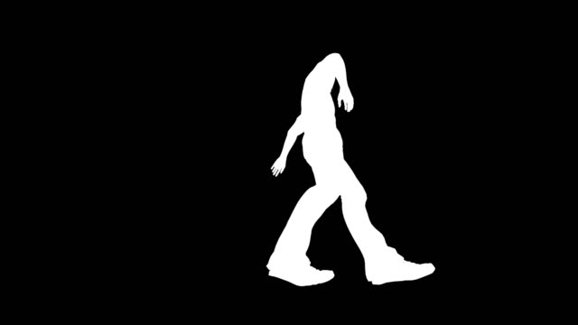 disco dancer in action silhouette - silhouette stock videos & royalty-free footage