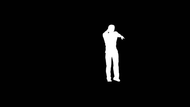 stockvideo's en b-roll-footage met disco danser in actie silhouet - vj