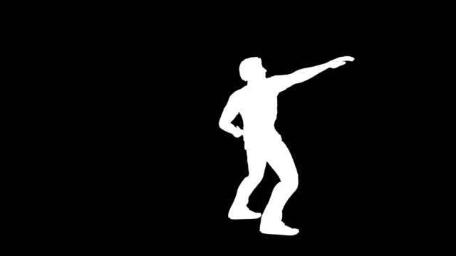 disco dancer in action silhouette - masculinity stock videos & royalty-free footage