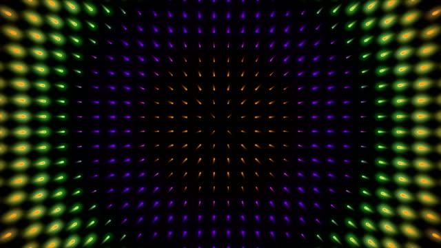 ディスコ ライト壁抽象ドット背景 - 照明器具点の映像素材/bロール