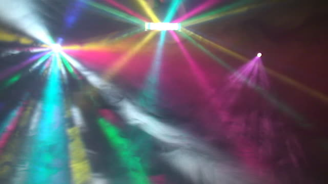 disco lights in night club - disco dancing stock videos & royalty-free footage