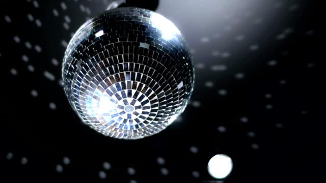 disco mirror ball - mirror ball stock videos & royalty-free footage