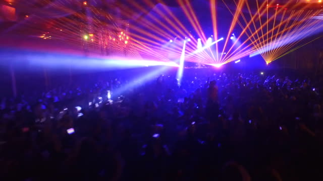 disco party with laser show - nightclub stock videos & royalty-free footage