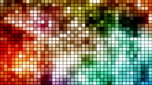 disco style mosaic loopable background - disco dancing stock videos & royalty-free footage