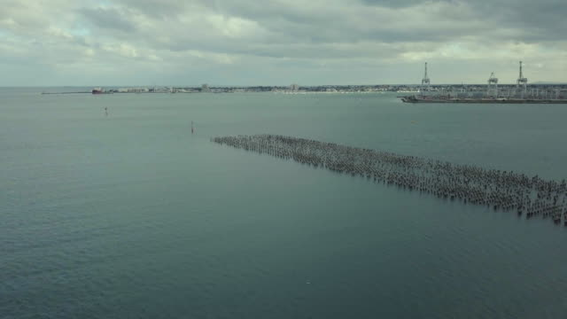 Discovering Australia: Aerial view of Port Melbourne and Princess Pier