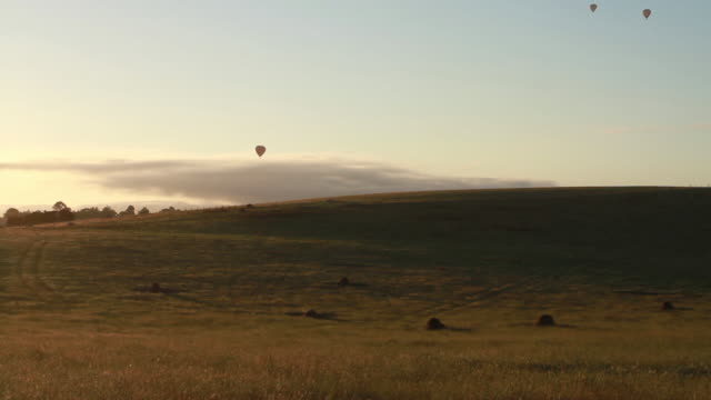 discovering australia hot air balloons - victoria australia stock videos & royalty-free footage