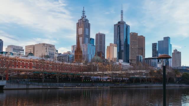 Discovering Australia: Sunset Time lapse of Melbourne skyline