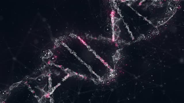 vídeos de stock, filmes e b-roll de descobrindo o dna - ilustração biomédica