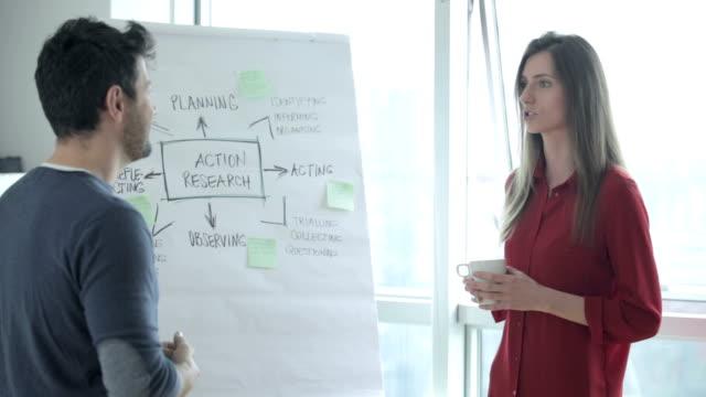 diskussion über den workflow - geld verdienen stock-videos und b-roll-filmmaterial