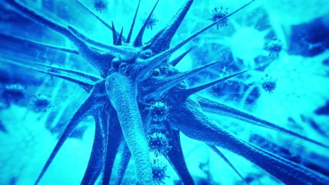 disease spreadig on brain. - inflammation stock videos & royalty-free footage