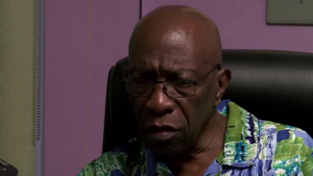 disgraced former fifa vice president jack warner held his weekly meeting with supporters at his office in chaguanas west the constituency he... - collegio elettorale video stock e b–roll