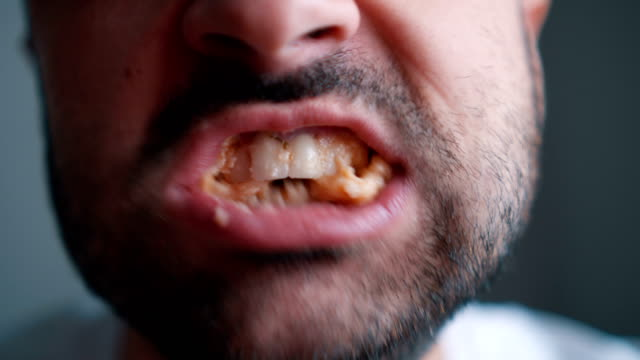 disgusting chewing food - mouth open stock videos and b-roll footage