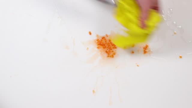 dish towel. - annick vanderschelden stock videos & royalty-free footage