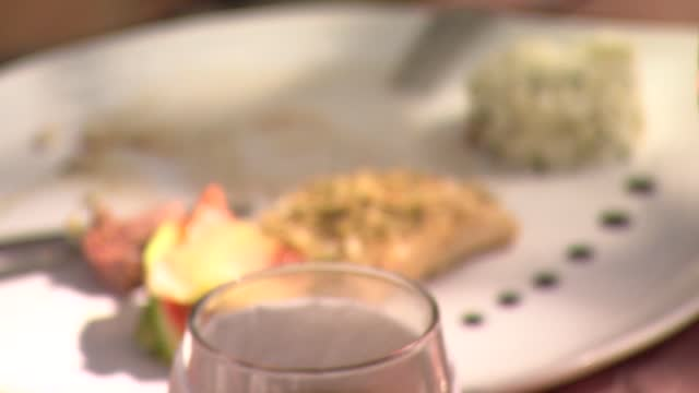 vidéos et rushes de dish with wine - verre à vin