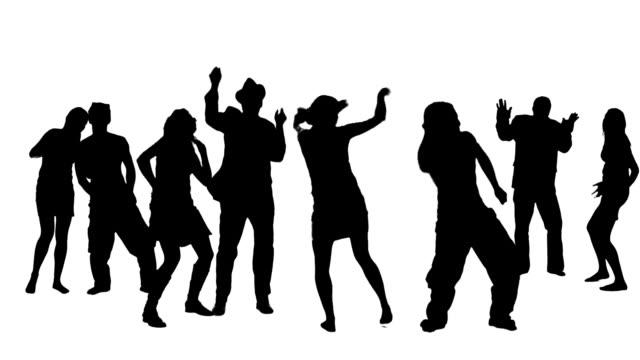 vídeos y material grabado en eventos de stock de discoteca - silueta