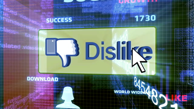 dislike button in the virtual world - complaining stock videos & royalty-free footage