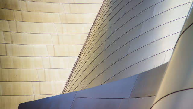 vídeos de stock, filmes e b-roll de disney hall abstract - timelapse - arquitetura