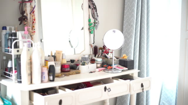 disordered of dressing table - collection stock videos & royalty-free footage