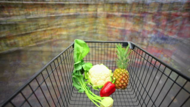 pov t/l disorientation in supermarket - walking point of view stock videos & royalty-free footage