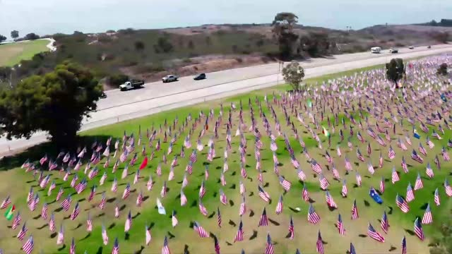 display mounted in pepperdine university's alumni park in malibu, california, on september 9 highlights the 90 countries that lost citizens in the... - malibu stock videos & royalty-free footage