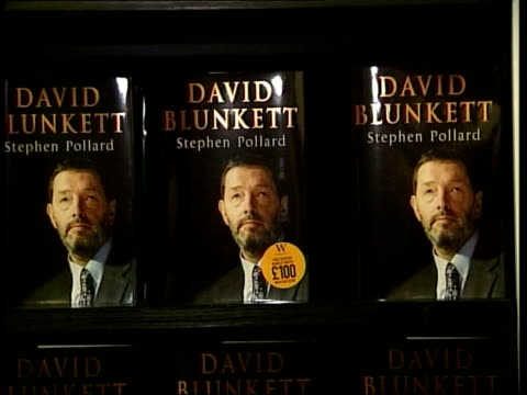 display of david blunkett's biography tilt up ext/night gv 'the albert' pub where mp's christmas party was held and blunkett sang a song 'pick... - david blunkett stock videos & royalty-free footage