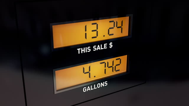 Display of Gas Pump
