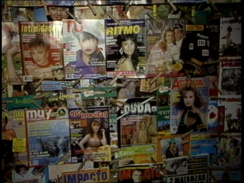 Display of Mexican Magazine Covers in Tijuana