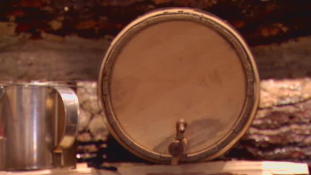 Display of pioneer belongings, pan and tilt down