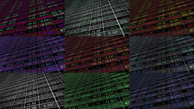 Display of Stock market 4K
