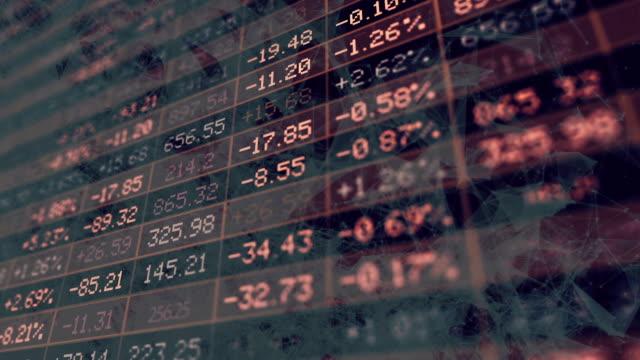 visualizzazione di mercato azionario - rischio video stock e b–roll
