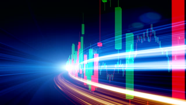 display stock market data and graph concept - moving up stock videos & royalty-free footage