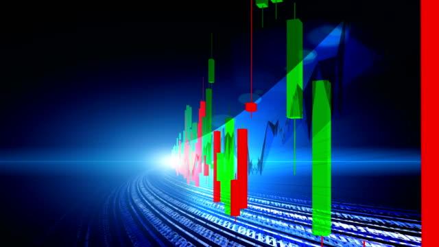 Beurs data en grafiek concept weergeven