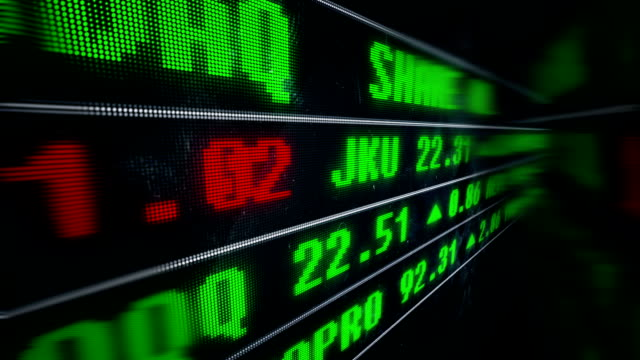 display stock price on led screen. - bull market stock videos & royalty-free footage