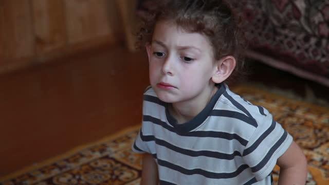 displeased little girl rolling her eyes - rolling eyes stock videos & royalty-free footage
