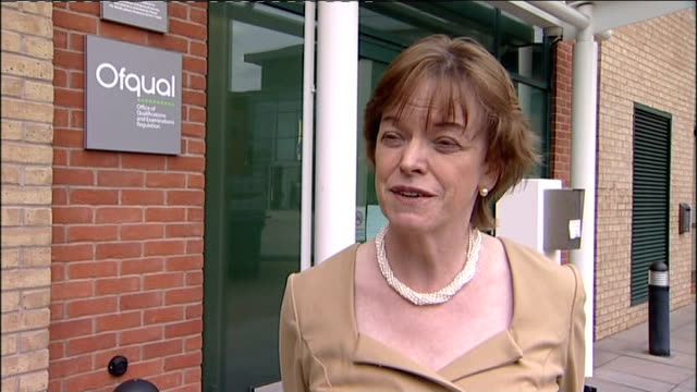 disputed gcse english exam results to stand coventry glenys stacey interview sot - 一般教育証明試験点の映像素材/bロール