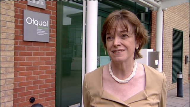 disputed gcse english exam results to stand ofqual ext glenys stacey interview sot is opportunity for resit / the grades in june are right - 一般教育証明試験点の映像素材/bロール