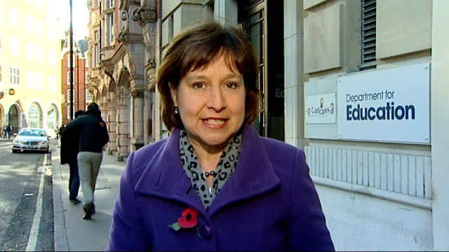 teachers criticised over high coursework grades london ext reporter to camera - general certificate of secondary education stock videos & royalty-free footage