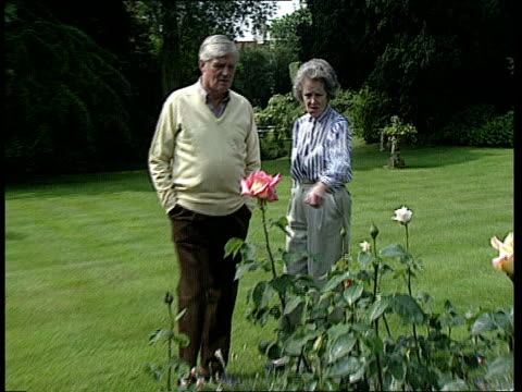 Dissolution honours list CMS Cecil Parkinson with wife Ann in garden PULL CMS Cecil Parkinson intvwd SOF I remember lots of Cabinet colleagues...