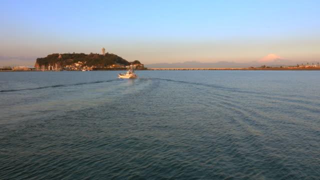 Distant view of Enoshima island