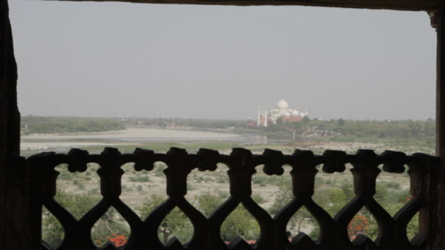 ws distant view of taj mahal / agra, india - agra stock videos and b-roll footage
