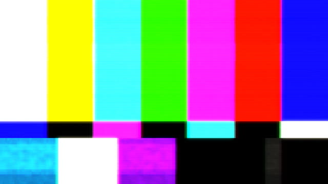 distorted test patern - television set stock videos & royalty-free footage