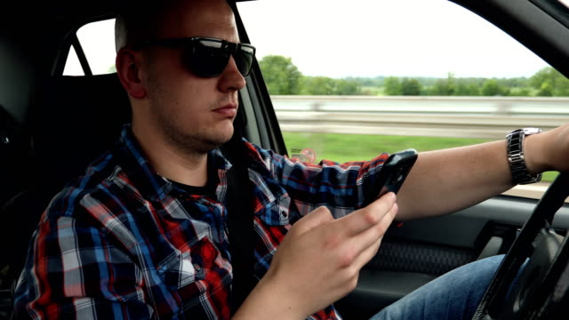 distracted driving - text messaging stock videos & royalty-free footage