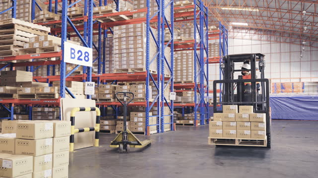 distribution warehouse. - warehouse stock videos & royalty-free footage